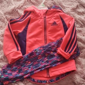 Adidas baby girl sports suit